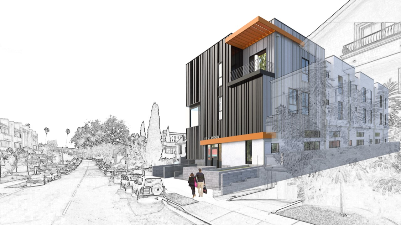 115 S St Andrews Place - Rendering